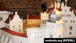 Макет замкавага палаца Стэфана Баторыя ў Горадні (з экспазыцыі ў Мірскім замку)