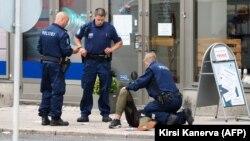 На месте инцидента в финском городе Турку. 18 августа 2017 года.