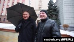 Мікола Статкевіч (зьлева) і Ўладзімер Някляеў