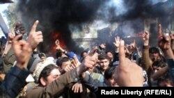 Жалал-Абад шаарындагы демонстрация. 22-февраль, 2012-жыл.