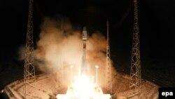 Запуск ракеты «Союз» с космодрома Куру во Французской Гвиане (архивное фото)