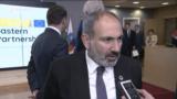 Премьер-министр Армении Никол Пашинян беседует с корреспондентом РСЕ/РС, Брюссель, 13 мая 2019 г.