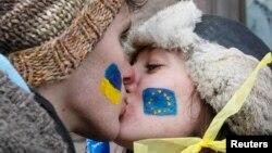 Украінскія студэнты на Эўрамайдане