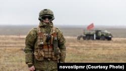 În timpul unor exerciții comune ale forțelor militare ruse și ale așa-zisei armate transnistrene, noiembrie 2019
