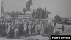 Manifestație a militarilor bolșevici români, Odesa, ianuarie 1918