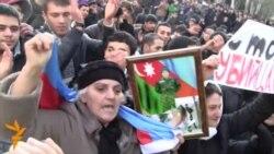 """12 yanvar """"Əsgər ölümünə son!"""" etiraz aksiyasının görüntüləri - əvvəldən sona kimi"""