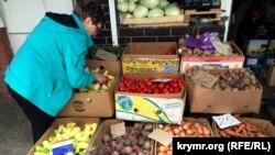 Овощи на центральном рынке Симферополя