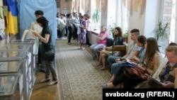 Голосование на избирательном участке в Киеве. 25 мая 2014 года.