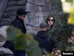 Angelina Jolie na snimanju filma