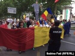 La protestul de la București