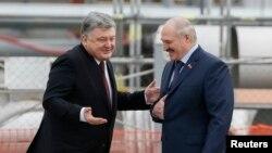 Пятро Парашэнка і Аляксандар Лукашэнка, 26 красавіка 2017 году