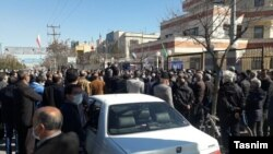 Protests took place across Iran on February 14.