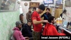 صالون للحلاقة في بغداد