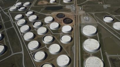 Skladišta nafte u Kušingu u Oklahomi, blizu popunjenih kapaciteta, 2016.