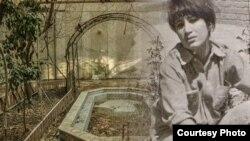 عکسی قدیمی از فروغ فرخزاد در حیاط خانه پدریاش با تصویری جدید از همان مکان