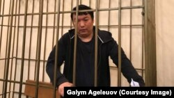 Kazakh activist Muratbek Tunghyshbaev appears at a Kyrgyz court hearing last month.