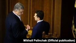 Петр Порошенко и Владимир Зеленский (2020 год)