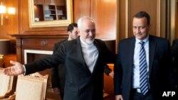 محمدجواد ظریف در کنار نماینده ویژه سازمان ملل در امور یمن