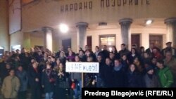 Sa protesta u Nišu, foto: Predrag Blagojević