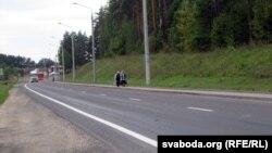 Пограничный переход на польско-белорусской границе