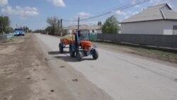 Жаңақорғандағы мини-трактор