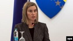 Mogherini u obraćanju Parlamentu BiH, foto: Midhat Poturović