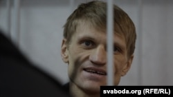 Syarhey Kavalenka at his trial in Vitsebsk