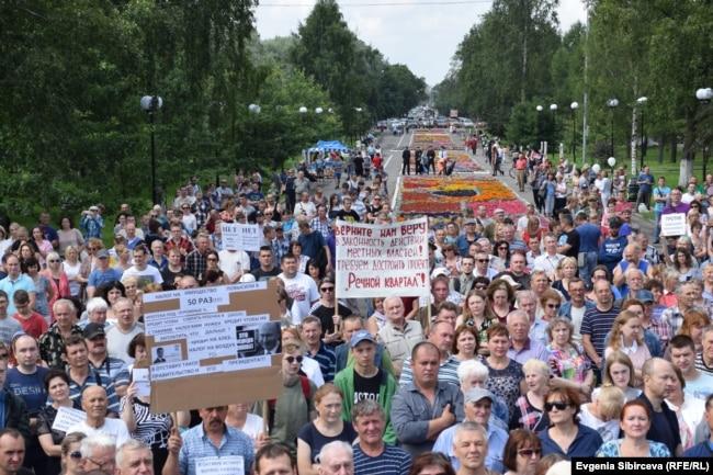 Митинг против повышения пенсионного возраста 28 июля в Вологде