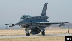 Самалёт Air Force F-16, ілюстрацыйнае фота