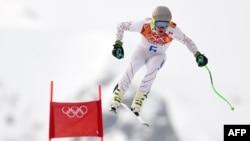Орусия -- Америкалык лыжачы Тед Лигети. Сочи, 11-февраль, 2014.