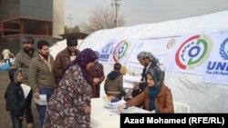 مخيم النازحين السوريين الى السليمانية