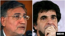 Mohammad Nourizad (left) and Jafar Panahi were arrested in the aftermath of June's presidential election in Iran.