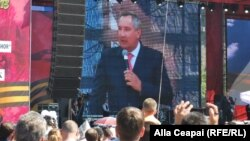 Russian Deputy Prime Minister Dmitry Rogozin pictured earlier this year in Chisinau (file photo)