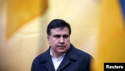 Former Georgian President and Odesa Governor Mikheil Saakashvili (file photo)