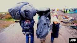 Izbjeglice u blizini mađarsko-srpske granice, mjesto Roszke, 10. septembar 2015.