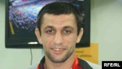 Georgia -- Bronze-medal winning wrestler Otar Tushishvili, 20aug2008