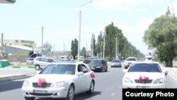 Үйлөнүү тойдогу автоунаалар, Бишкек