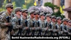 Репетиция военного парада в честь 30-й годовщины независимости Украины в Киеве