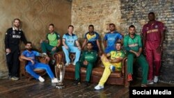 جام جهانی کریکت کپیتانهای تیم های اشتراک کننده