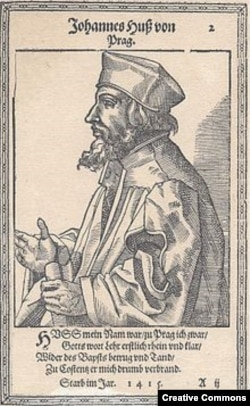 Ян Гус. Портрет из протестантской книги XVI века