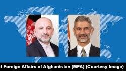د افغانستان د بهرنیو چارو وزیر محمد حنیف اتمر له خپل هندي سیال اېس. جې شنکر سره