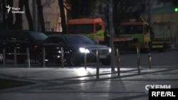 Пізніше кортеж Котвіцького залишив парковку