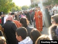 Doček patrijarha Irineja u Jagodini, 16. oktobar 2011.