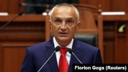 Presidenti i Shqipërisë, Ilir Meta gjatë një fjalimi të tij në Kuvendin e Shqipërisë. Foto nga arkivi.