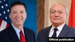 U.S./Armenia - FBI Director James Comey and Amenian Investigative Committee Chairman Aghvan Hovsepian.