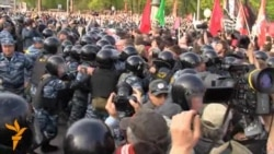 Riot Police Clash With Protesters In Moscow