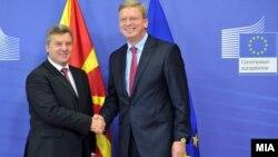 Средба на претседателот Ѓорге Иванов со еврокомесарот за проширување Штефан Филе Брисел, Белгија