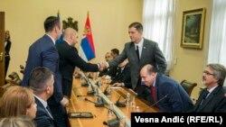 Poslanici Srpske liste na sastanku sa Markom Đurićem u Beogradu, 9. septembar