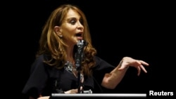Among other things, David Wright was convicted of plotting to behead blogger Pamela Geller (pictured, file photo)