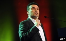 Opposition leader Zoran Zaev leaked phone conversations of journalists and other citizens that were allegedly recorded by the right-wing ruling party.